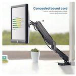 Simbr Monitor-Tischhalterung mit 360° drehbarem Federarm bis 27″ mit VESA für 19,99€ (statt 30€) – Prime