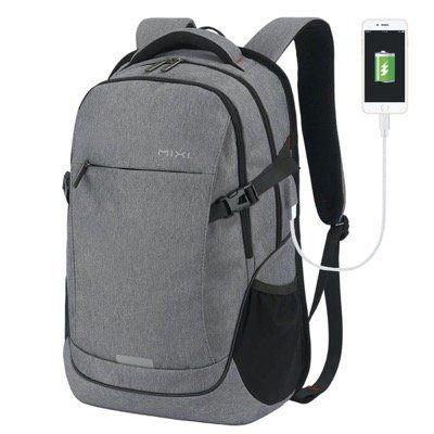 Wasserdichter Hanke Notebook Rucksack bis 15,6 mit USB in Dunkelgrau für 25,60€ (statt 32€)