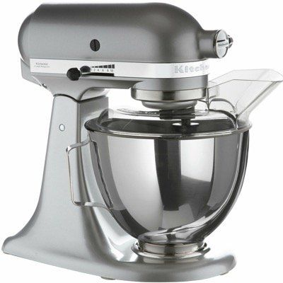 KitchenAid 5KSM95PSECU Küchenmaschine in Silber mit 4,3L und Planetenrührwerk für 269,90€ (statt 340€)