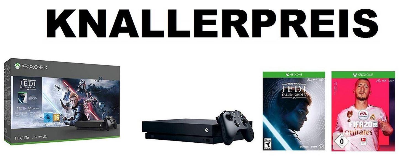 XBOX ONE X 1TB Konsole + Star Wars Jedi Fallen Order + FIFA 20 für 349€ (statt 468€)