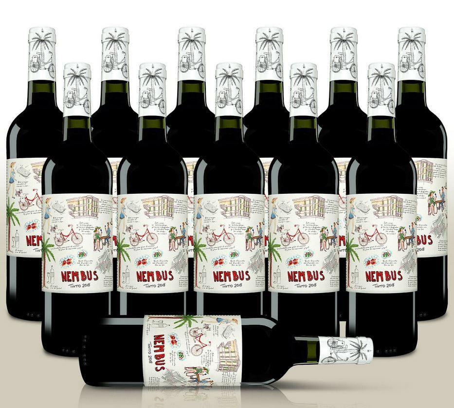 Nembus Tinto 2018 Monastrell   12 Flaschen trockener spanischer Rotwein für 50,49€ (statt 60€)