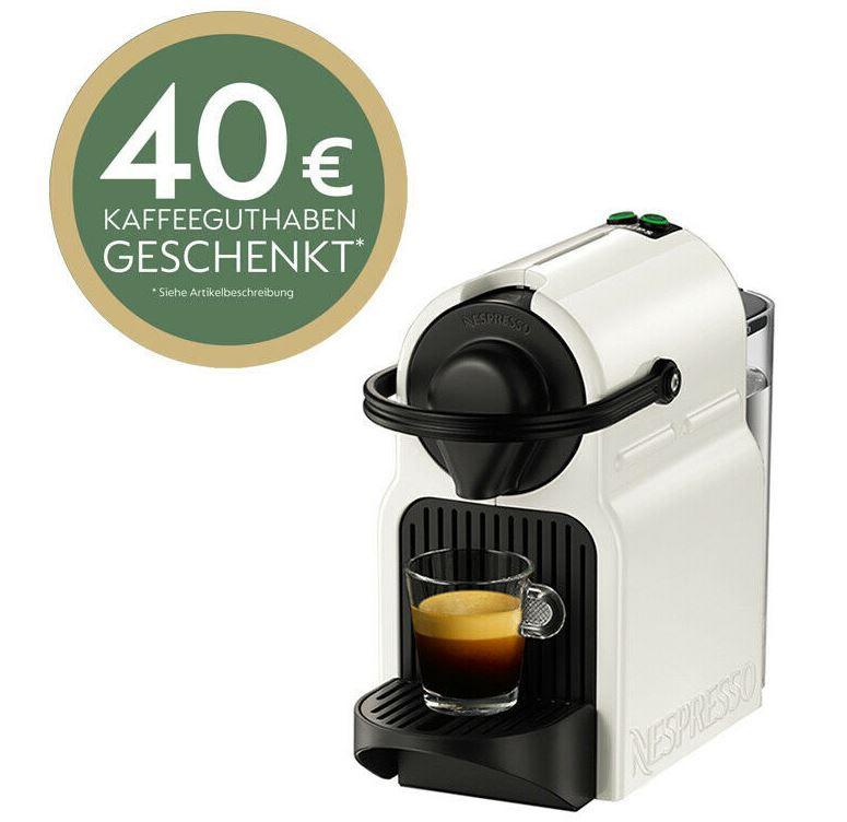 Krups Inissia XN1001 Nespresso Kapselmaschine für 45€ (statt 55€) + 40€ Kapselguthaben