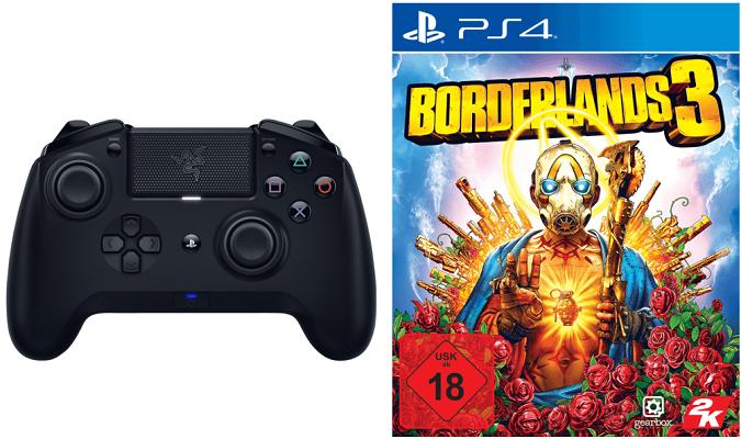 RAZER Raiju Controller Tournament Edition 2019 + Borderlands 3 (PS4) für 109€ (statt 146€)