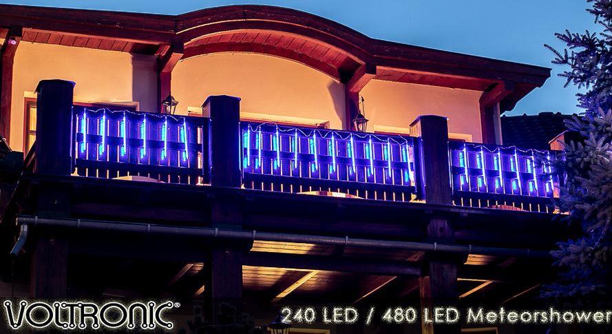 VOLTRONIC LED Meteorschauer Lichterkette bis 480LEDs für 14,99€ (statt 20€)