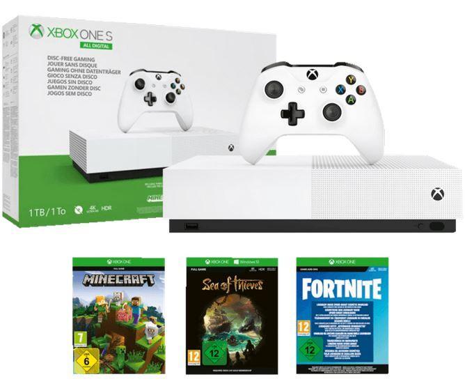 Vorbei! 🔥Hammer!🔥 MICROSOFT Xbox One S 1TB + 3 Spiele ab 89€ (statt 190€)
