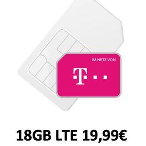 Letzte Chance: 🔥Telekom Flat mit 18GB LTE (50 Mbit) für nur 19,99€mtl. (normal 35€)