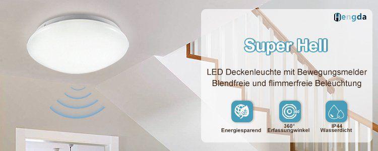 30% auf Wolketon LED Deckenleuchten   z.B. 12W LED Deckenleuchte mit Bewegungsmelder für 14,94€ (statt 23€)