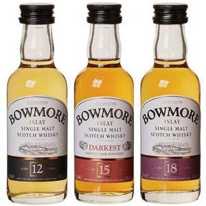 Bowmore Whisky Miniaturen Set 12, 15, 18 Jahre (3x 5cl) für 15,29€ (statt 24€)