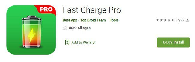 Android: Fast Charge Pro kostenlos (statt 4€)