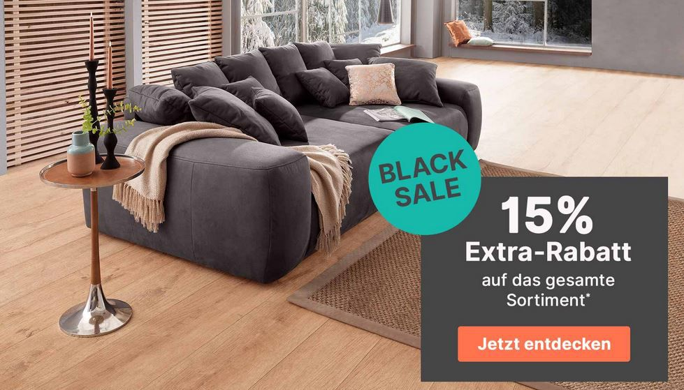 Cnouch BLACK Sale 15% auf (fast) alles Sofas, Sessel und Wohnmöbel