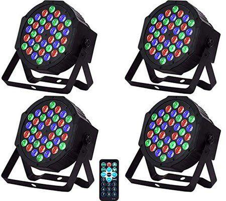 4x Partylicht mit verschiedenen Modi & 36 LEDs für 41,99€   aus DE