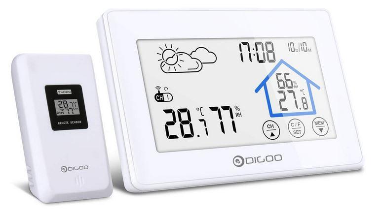 Abgelaufen! DIGOO DG TH8380 Funk Wetterstation mit Farb Display für 13,62€ (statt 23€)   prime