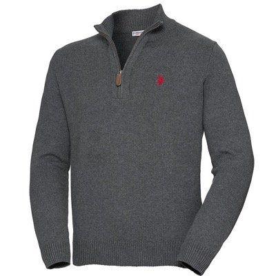 U.S. POLO ASSN. Herren Pullover mit Zipp in Restgrößen nur 27,60€ (statt 40€)