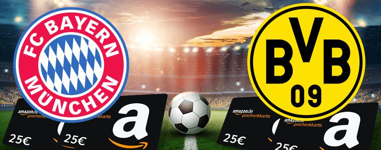 ⚽ Tipp Gewinnspiel: Bayern vs. BVB tippen und mit Glück 25€ Amazon Gutschein gewinnen