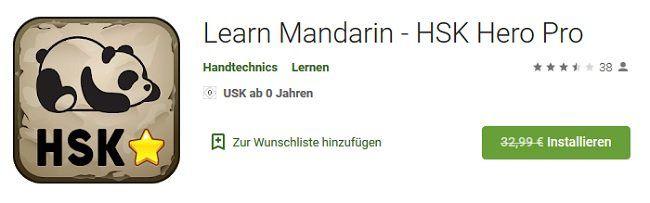 Android: Learn Mandarin   HSK Hero Pro gratis (statt 33€)