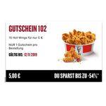 KFC 28 Tage – 28 Angebote: heute: 15 Hotwings für 5€