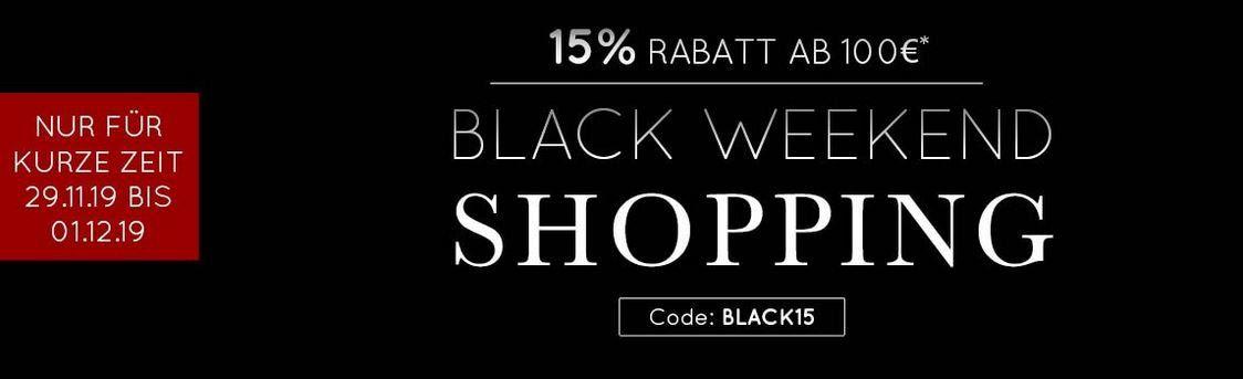 Taschenkaufhaus Black Weekend mit 15% Rabatt ab 100€
