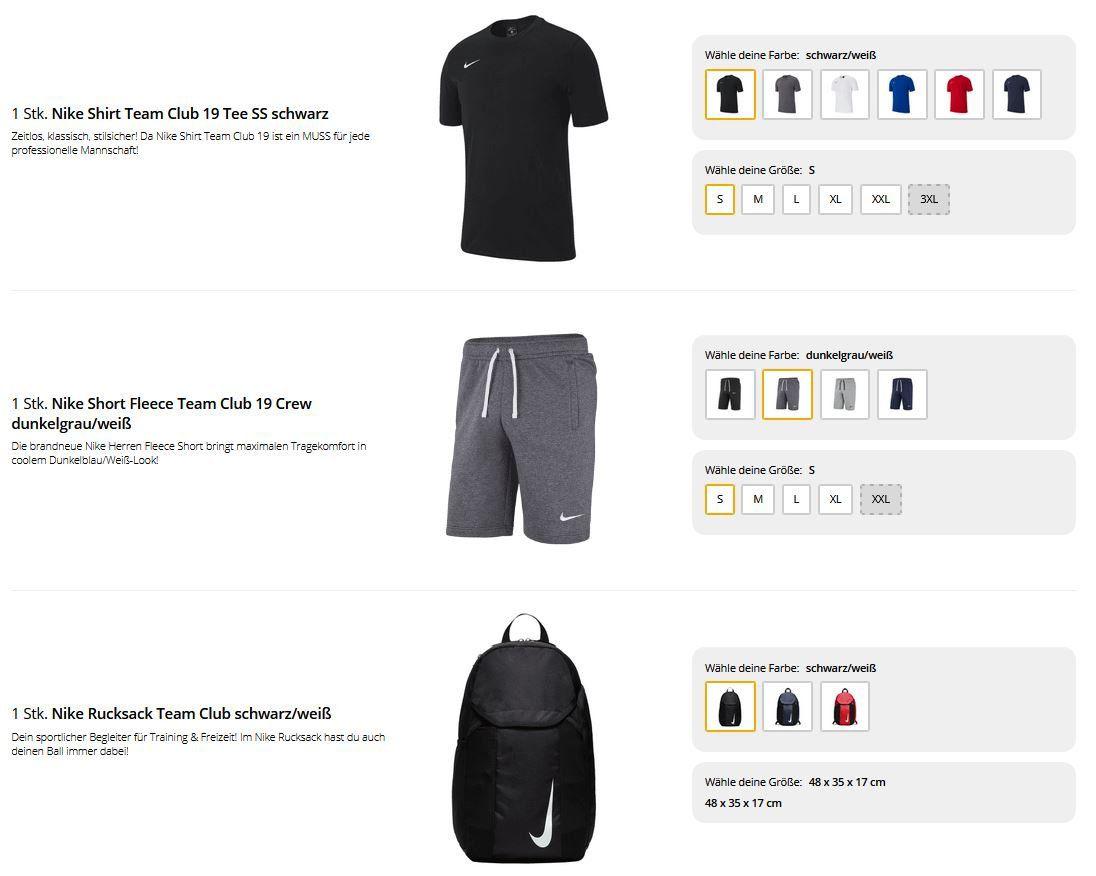 Nike Freizeit Set für Herren: Shirt, Short & Rucksack für 42,22€ (statt 54€)
