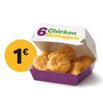 McDonalds Weihnachts-Countdown 2019 mit täglich wechselnden Deals – heute: 6er McNuggets für 1€