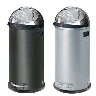 Hailo KickVisier XL Großraum Abfallbox in Schwarz oder Silber für 119,95€ (statt 189€)