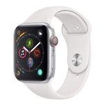 Apple Watch Series 4 (GPS + Cellular) 44mm Aluminium in Weiss mit Sportband für 400,12€ (statt 473€)