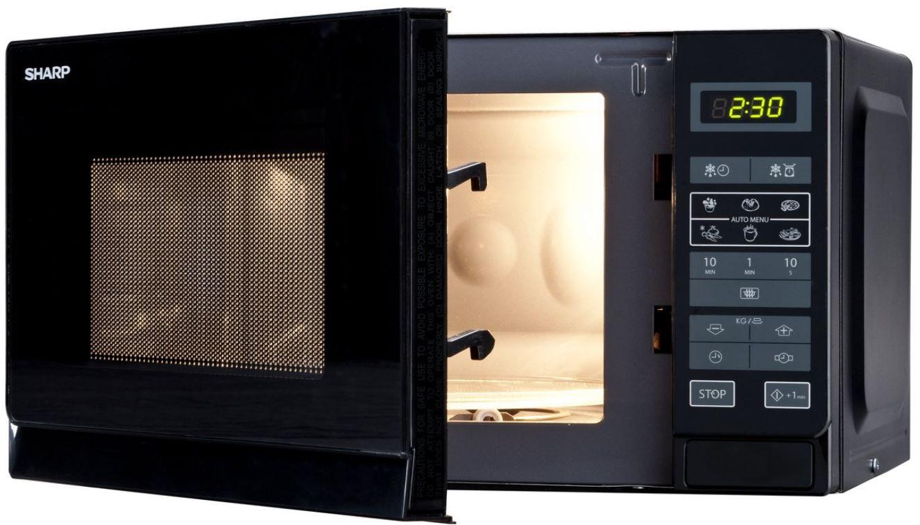 Sharp R 242BKW   20 l Microwelle 800Watt für 55€ (statt 65€)