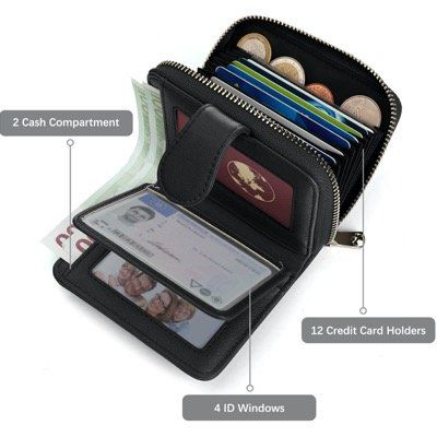 Kreditkartenetui aus echtem Leder mit RFID Schutz für Damen und Herren für 5,20€ (statt 13€)   Prime