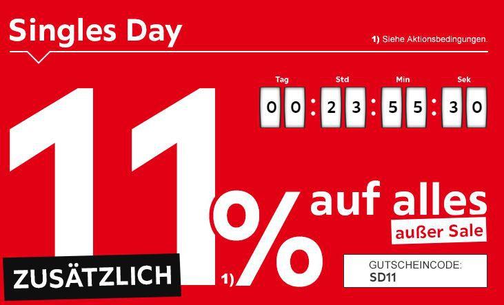 XXXLutz mit 11% Singles Day Rabatt auf Alles außer Sale
