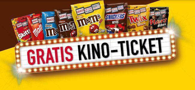 Gratis: Beim Einkauf von M&M's, Mars oder Snickers Kinokarten ergattern