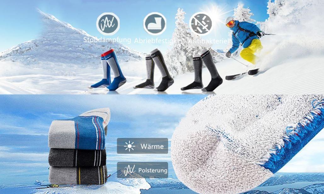 Unigear Winter Sportstrümpfe aus Merinwollgemisch mit Polsterung für 6,49€ (statt 14€) Prime