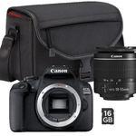 CANON EOS 2000D Spiegelreflexkamera mit 18-55 mm Objektiv inkl. Kameratasche & 16GB SD-Karte für 249€ (statt 336€)