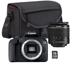 CANON EOS 2000D Spiegelreflexkamera mit 18 55 mm Objektiv inkl. Kameratasche & 16GB SD Karte für 222€ (statt 299€)