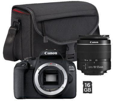 CANON EOS 2000D Spiegelreflex mit 18 55mm Objektiv inkl. Tasche & 16GB ab 281,47€ (statt 325€)