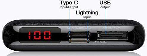 Beseus XF01 Powerbank mit 10.000mAh mit Type C, Lightning & USB Port für 14,99€ (statt 30€)