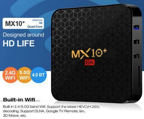MX10 Plus 6K TV Box mit Android 9.0 mit 4/64GB für 36,85€   aus DE