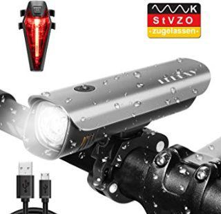 Lebexy LED Fahradlicht Set mit 2600mAh Akku für 14,98€ (statt 25€)
