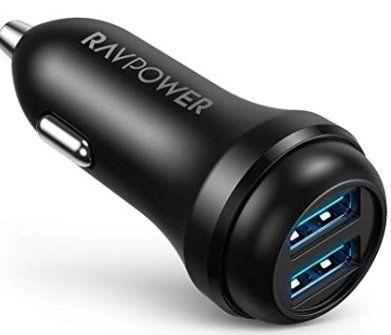 RAVPower RP VC018   USB Kfz Ladegerät mit 2x QC 3.0 Ports für 5,99€ (statt 10€)   Prime