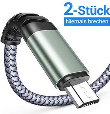 2er Pack: AINOPE 2m Micro USB Kabel für 4,49€   Prime