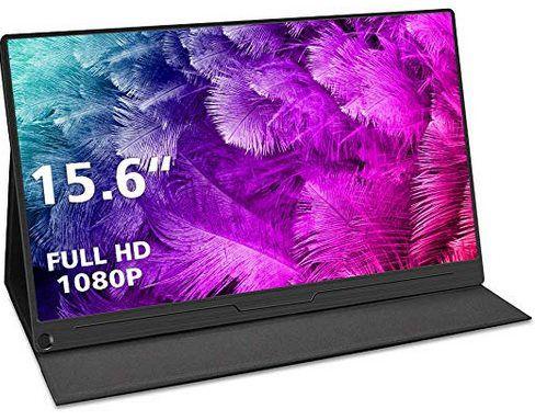 Portabler 15,6 Zoll FHD Monitor HDMI + USB C für 139,30€ (statt 200€)