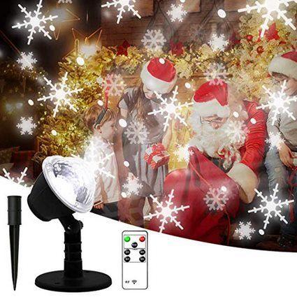 SMITHROAD LED Projektionslampe mit Schnee Muster für 11,49€ (statt 23€)