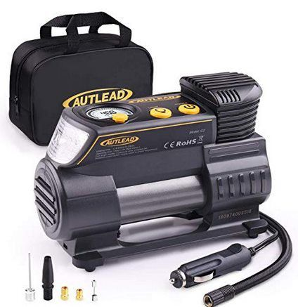 AUTLEAD C2 Luftkompressor (12V DC) mit LED Lampe für 23,99€ (statt 40€)