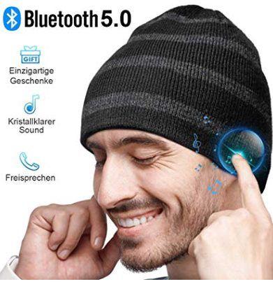 Bluetooth 5.0 Mütze mit Kopfhörer für 11,69€   Prime