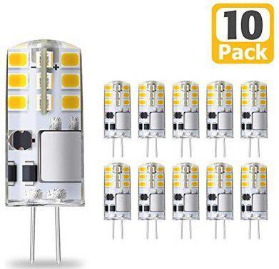 KINGSO 10er Pack LED Lampen Sockel G4 mit je 3W für 8,99€ (statt 14€)