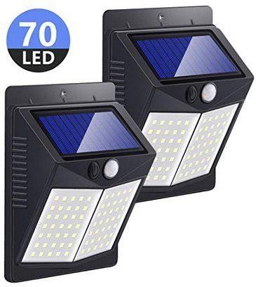 Doppelpack: LED Solarleuchten für Außen mit 70 LEDs für 13,49€ – Prime