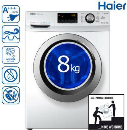 Haier HW80 BP14636 Waschmaschine mit 8kg & A+++ für 299,90€ (statt 329€)