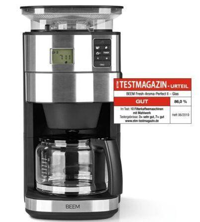 BEEM Fresh Aroma Perfect II Kaffeemaschine mit Mahlwerk für 62,99€ (statt neu 124€)   generalüberholt