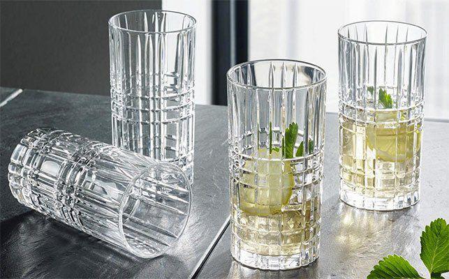 12er Pack Nachtmann Gläser Set Square (Kristallglas mit Schliff) für 16,80€ (statt 44€)