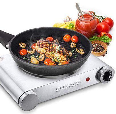 SUNAVO CB H11 elektrische Kochplatte mit 1500W für 19,83€ (statt 36€)
