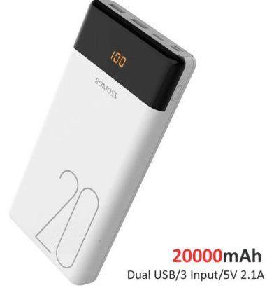 ROMOSS LT20   Powerbank mit 20.000mAh & Dual USB Input für 14,99€ (statt 18€)