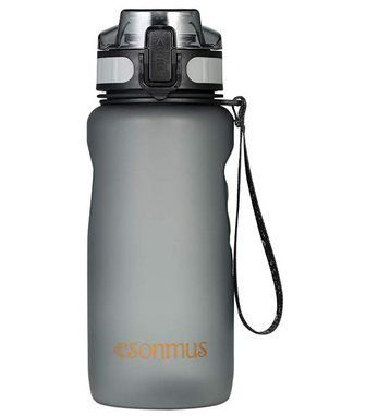 esonmus 650ml auslaufsichere Trinkflasche in Schwarz für 6,99€   Prime